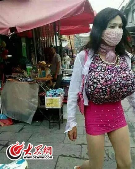 爆乳女装男中国で逮捕