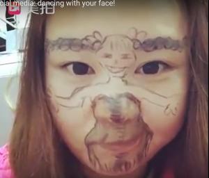 顔ダンスが中国で人気に動画
